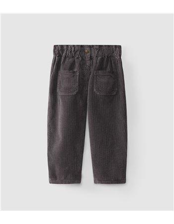 Pantalons paper-bag en velours côtelé