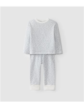 Pyjama en maille cardée en coton