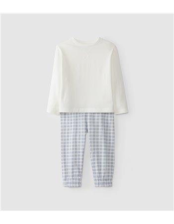 Pyjama en maille imprimée en coton
