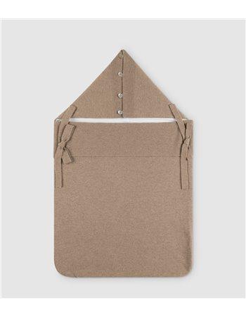 Couverture-sac tricotée avec du cachemire