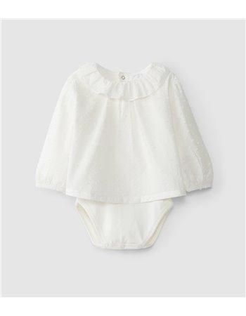 Body-blouse avec doublure en maille de coton