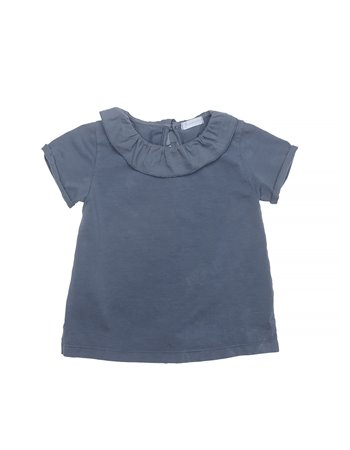 T-shirt avec col à volant