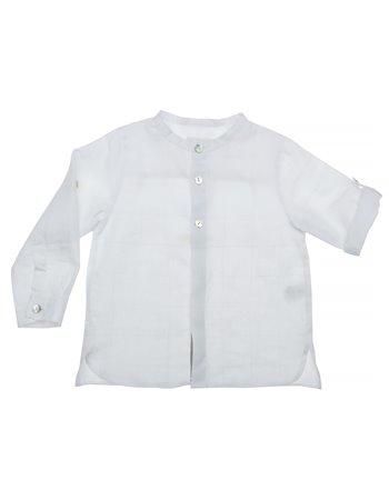 Chemise en lin à col mao