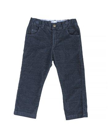 Pantalon en stretch cannelé