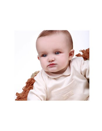 9104 Mickey Babygrow gola redonda, bolso na frente