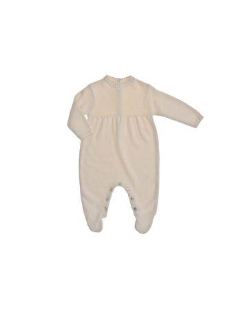 Per 50- Babygrow balão em tricot c/ ptº arroz