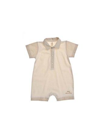 Per 32- Macacão jersey com tecido riscas