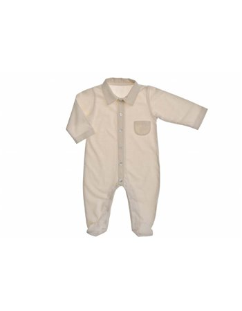 Per 38- Babygrow jersey c/tecido riscas
