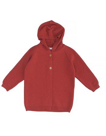 Veste tricotée avec capuche