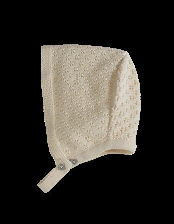Touca em tricot c/ ponto ajour