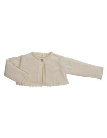 Bolero em tricot c/renda