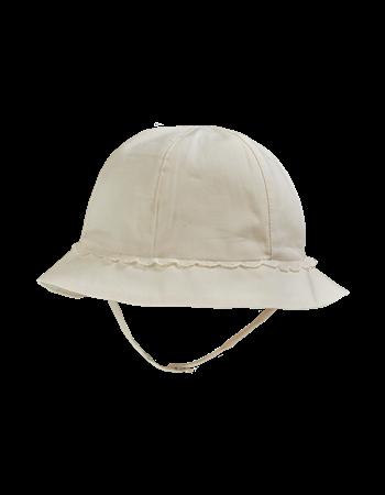 Chapéu em percale c/detalhes em renda