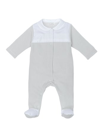 Babygrow avec broderie col claudine