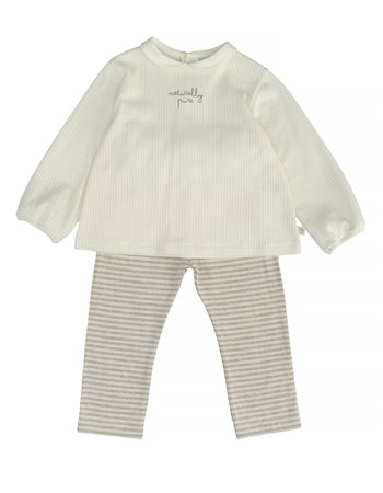 Pyjama en coton biologique avec col rond