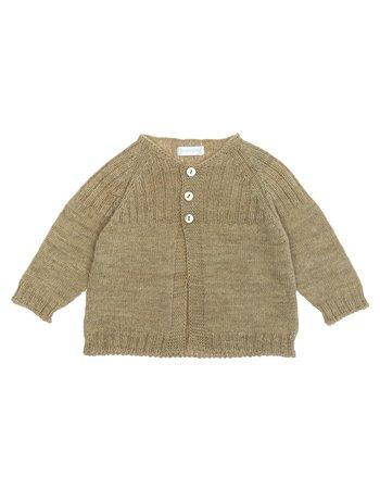Gilet tricoté à col rond