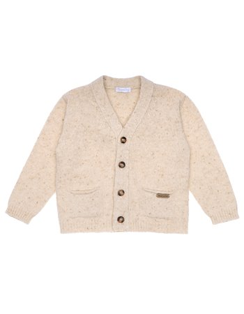 Gilet tweed tricoté
