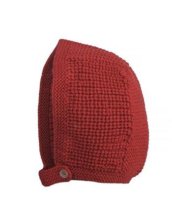 Bonnet béguin en maille tricotée
