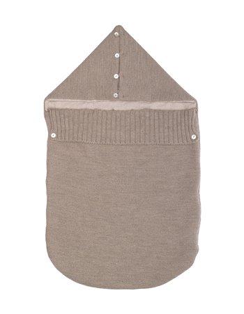 Couverture-sac tricotée
