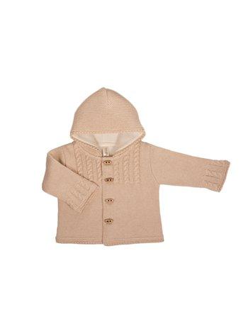 Gilet en tricot avec capuche