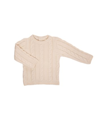 Pullover en tricot tresses