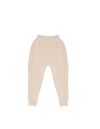 Pantalon en tricot avec détail de tresses