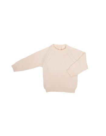Pullover en tricot avec détail de tresses