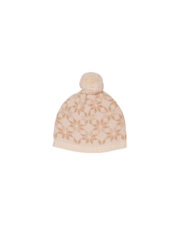 Bonnet em tricot jacquard flocon de neige