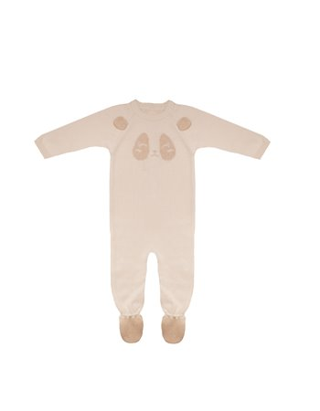 Babygrow panda en tricot