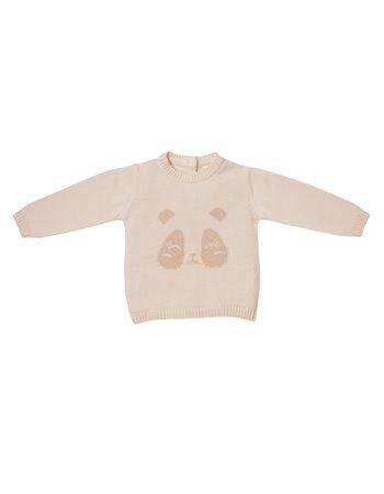 Pullover panda en tricot
