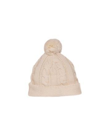 Bonnet en tricot tresses