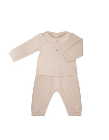 Babygrow en maille petits pois