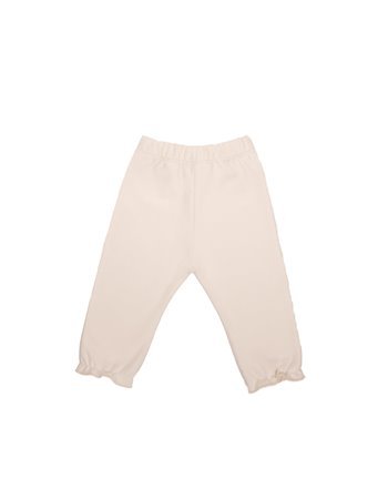 Pantalon en maille frou frou en bas