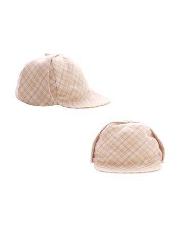 Chapeau de flanelle à carreaux