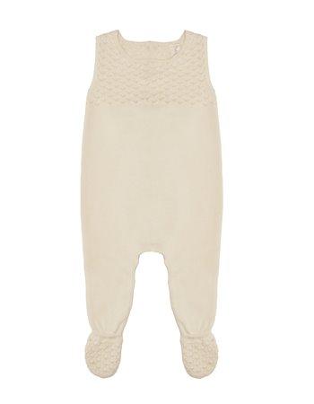 Babygrow em tricô ponto colmeia