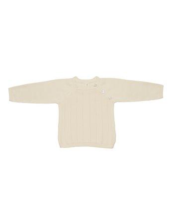 Camisola em tricô ajour