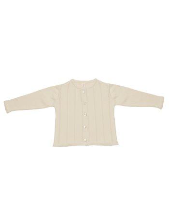 Cardigan em tricot rendado