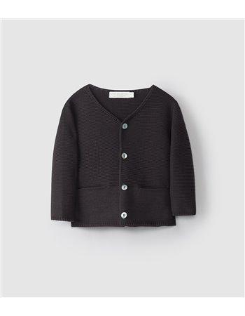 Gilet tricoté col en V
