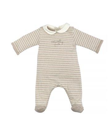 Babygrow en coton biologique col rond