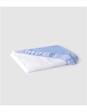 Serviette de bain en maille turque et en tissu